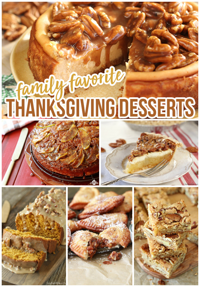 Favorite Thanksgiving Desserts  Family Favorite Thanksgiving Desserts Southern Bite
