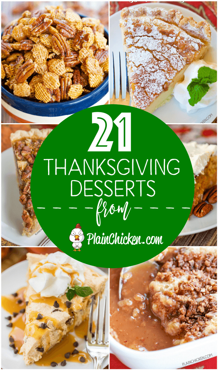 Favorite Thanksgiving Desserts  21 of the BEST Thanksgiving Desserts