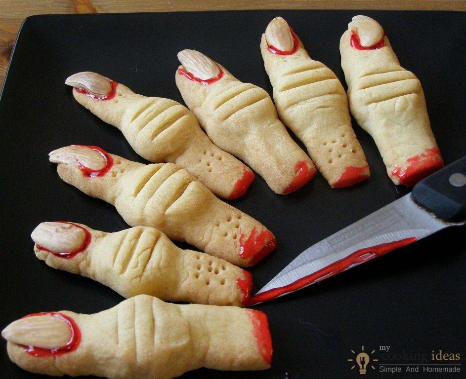 Finger Halloween Cookies  Creepy Monster s Finger Cookies