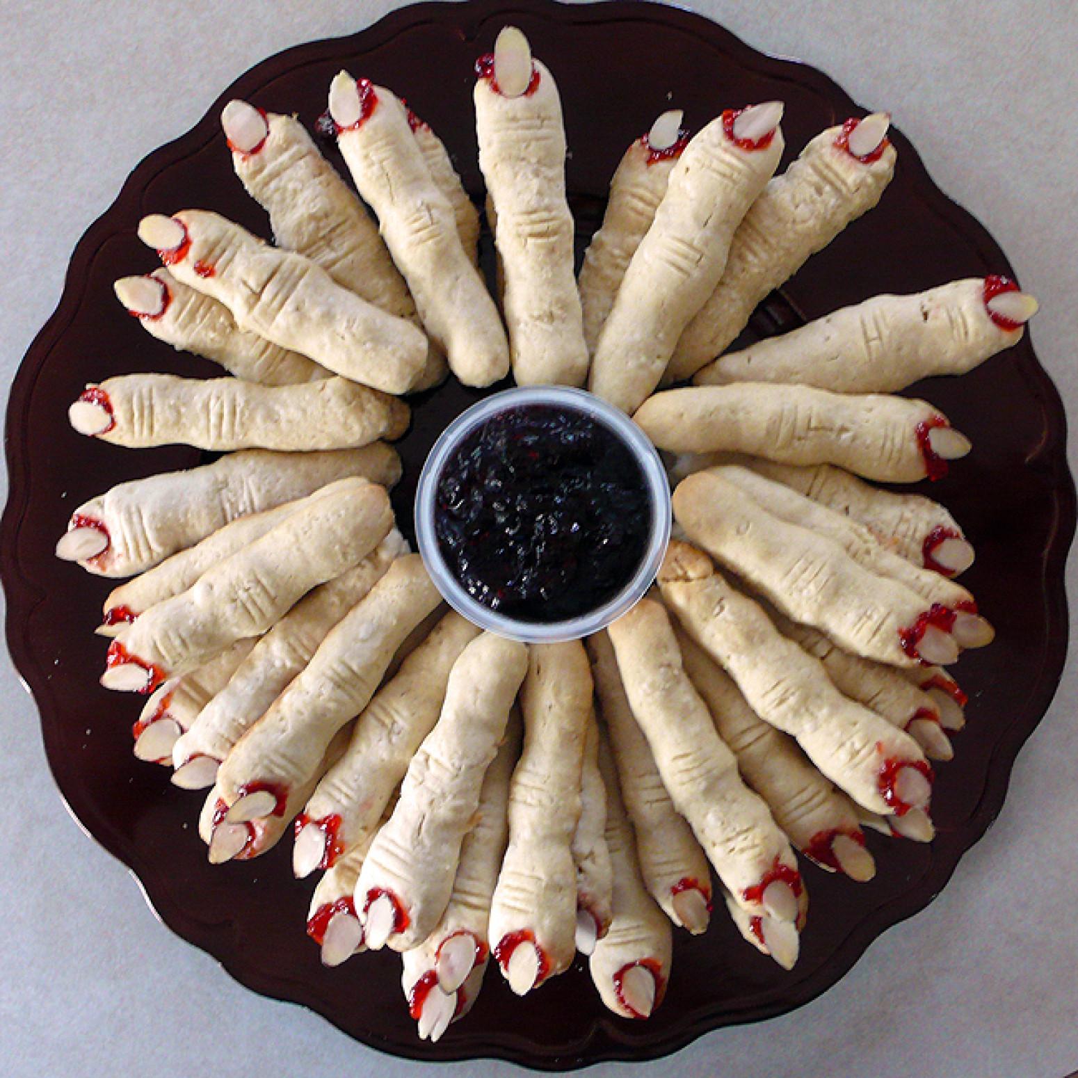 Finger Halloween Cookies  Halloween Witches Finger Cookies Recipe