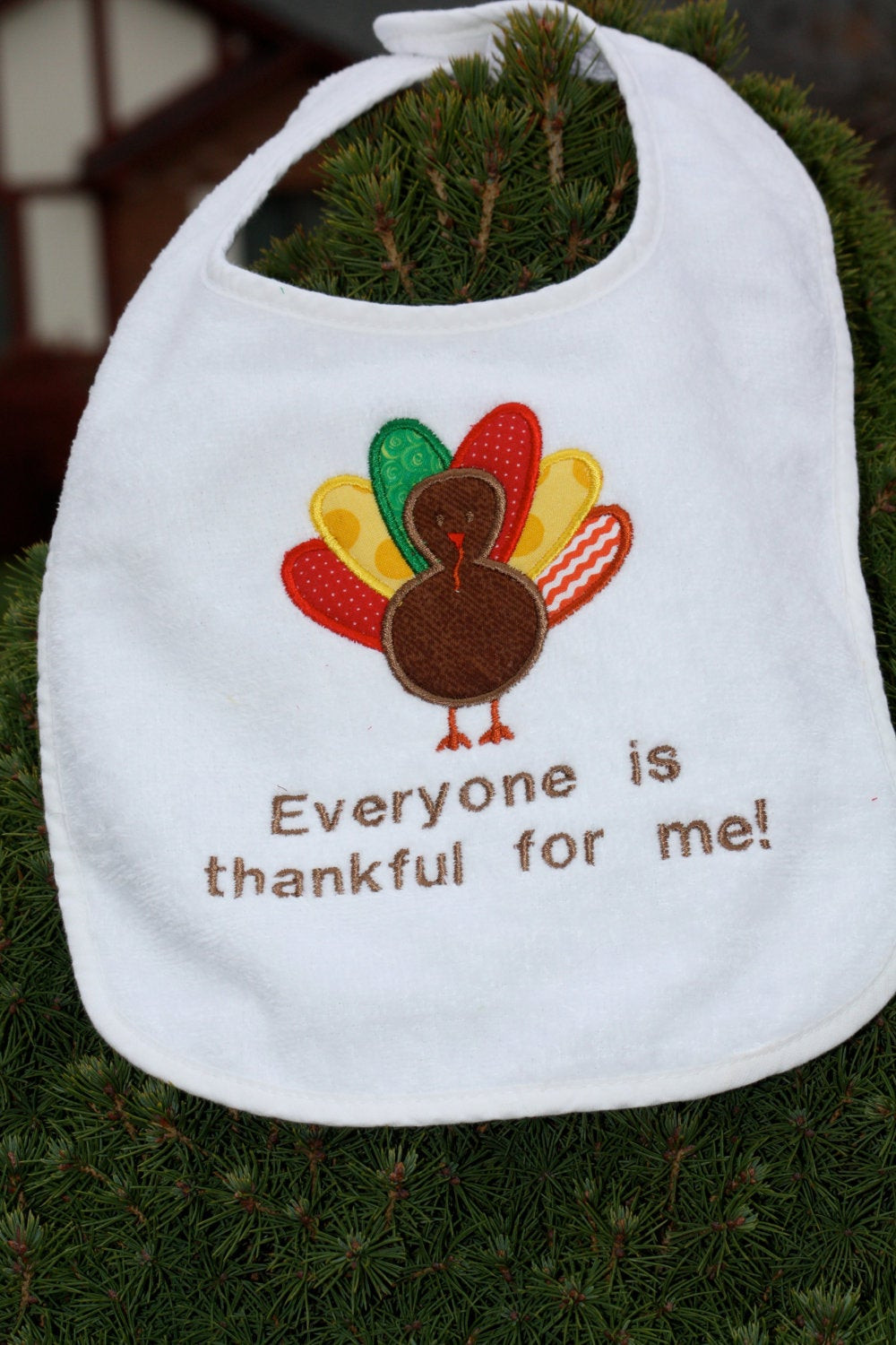 First Thanksgiving Turkey  Baby s First Thanksgiving Turkey Bib Everyone is