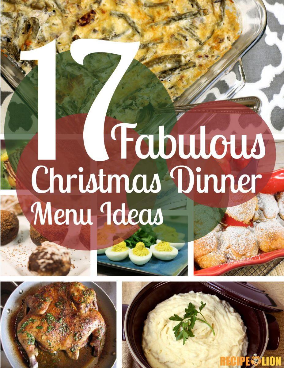Food For Christmas Dinner  17 Fabulous Christmas Dinner Menu Ideas Free eCookbook