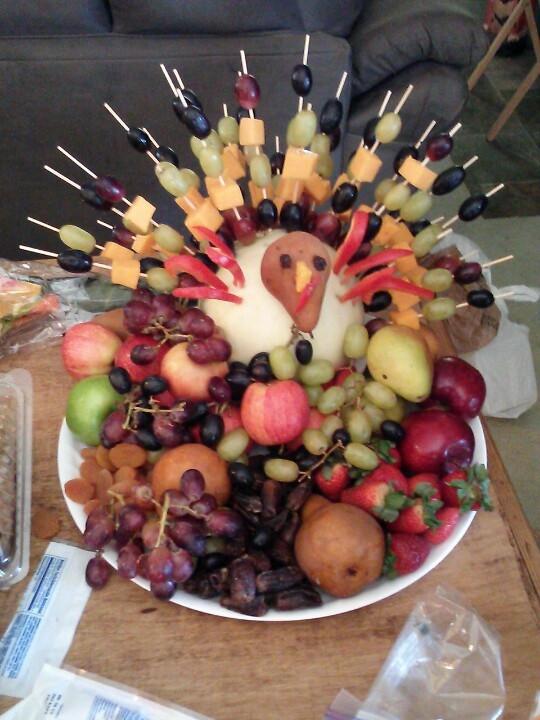 Fruit Salads Thanksgiving  Thanks giving fruit salad Turkey Foods