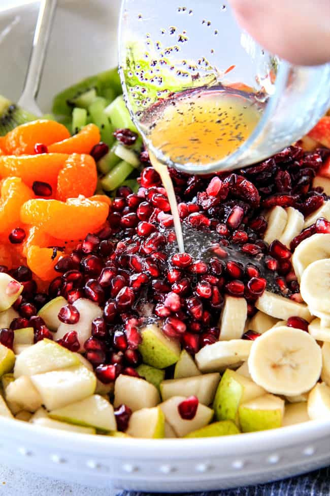 Fruit Salads Thanksgiving  Winter Fruit Salad with Honey Lime Poppy Seed Viniagrette