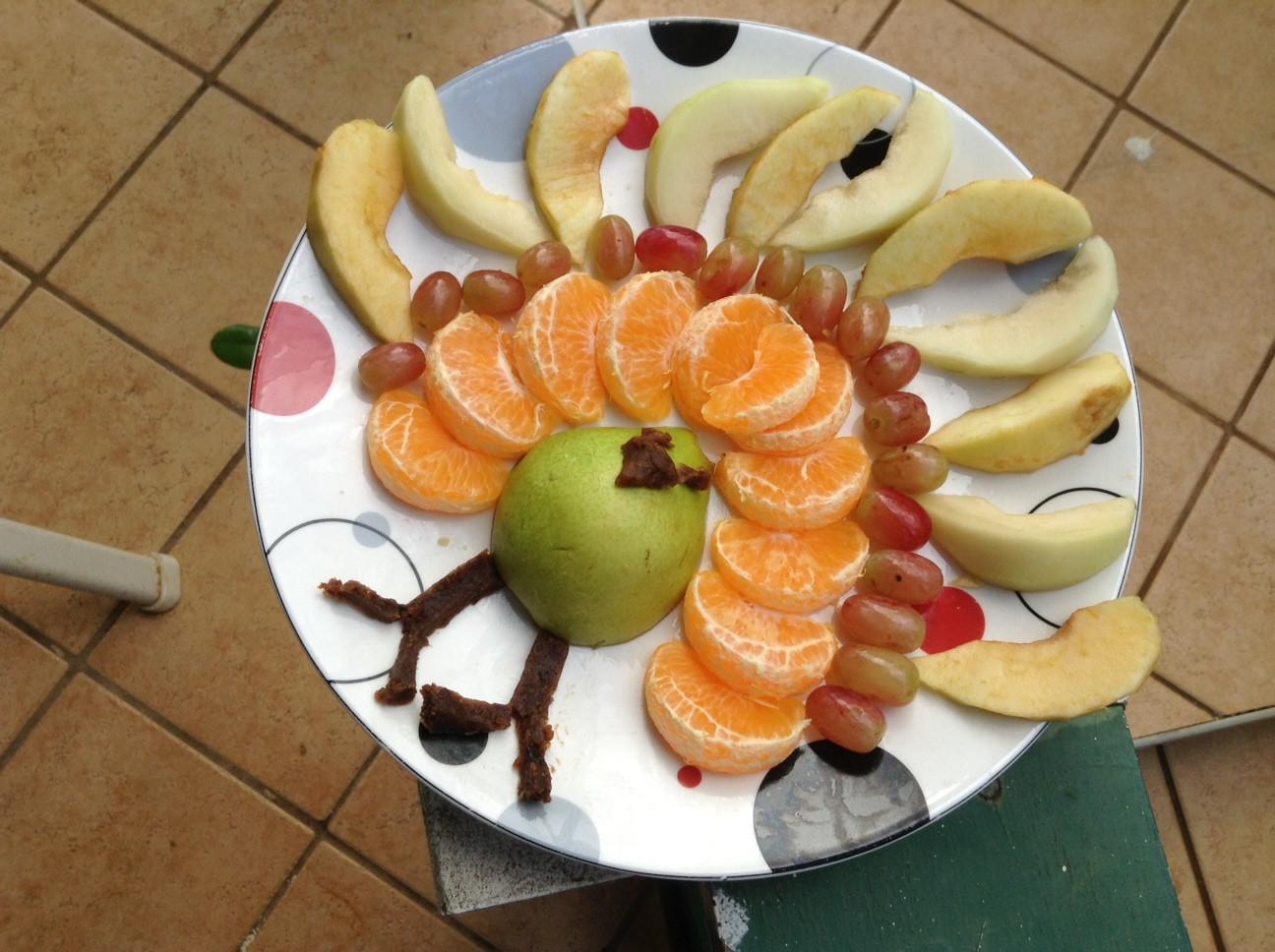 Fruit Salads Thanksgiving  Vegan Turkey Fruit Salad
