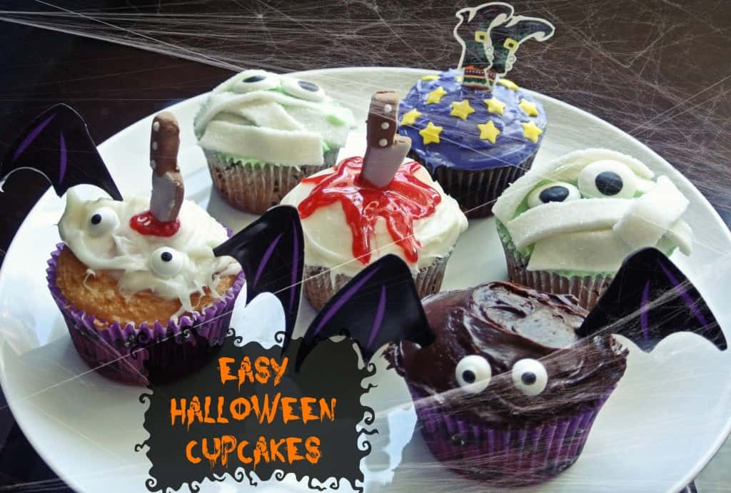 Funny Halloween Cupcakes  Cute and Easy Halloween Cupcakes • Half Crazy Mama