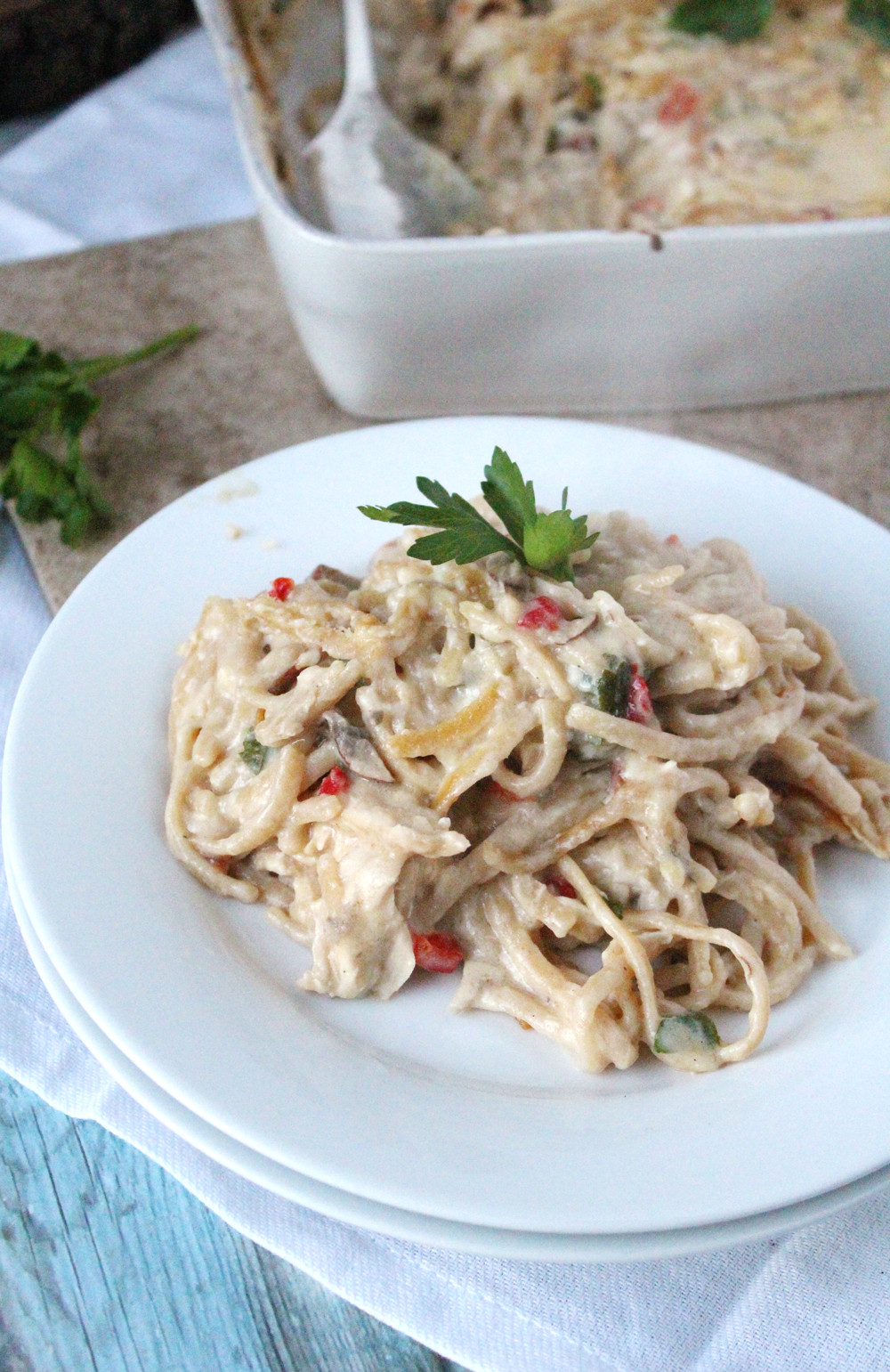 Giant Thanksgiving Dinner 2019  Chicken Tetrazzini The Newlyweds Cookbook