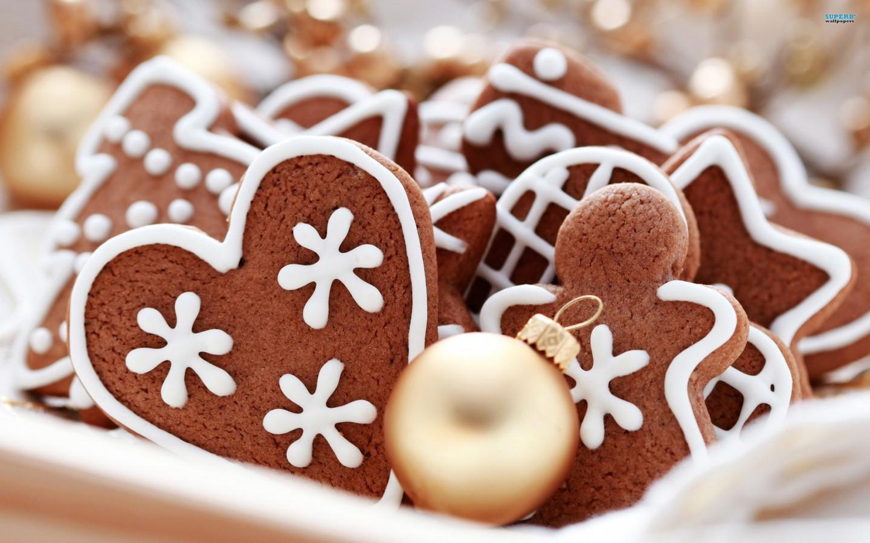 Ginger Bread Christmas Cookies  21 Stunningly Beautiful Christmas Desktop Wallpapers