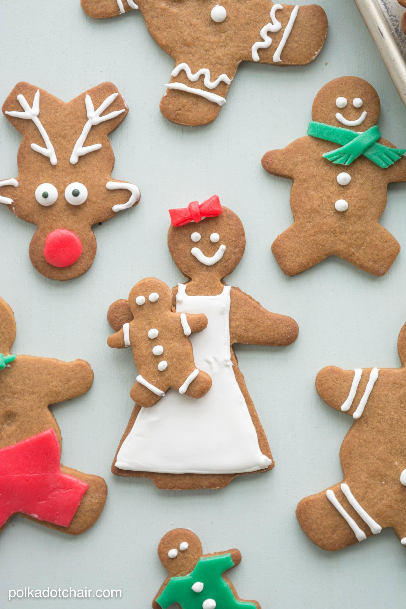 Ginger Bread Christmas Cookies  Gingerbread Cookie Decorating Ideas The Polka Dot Chair