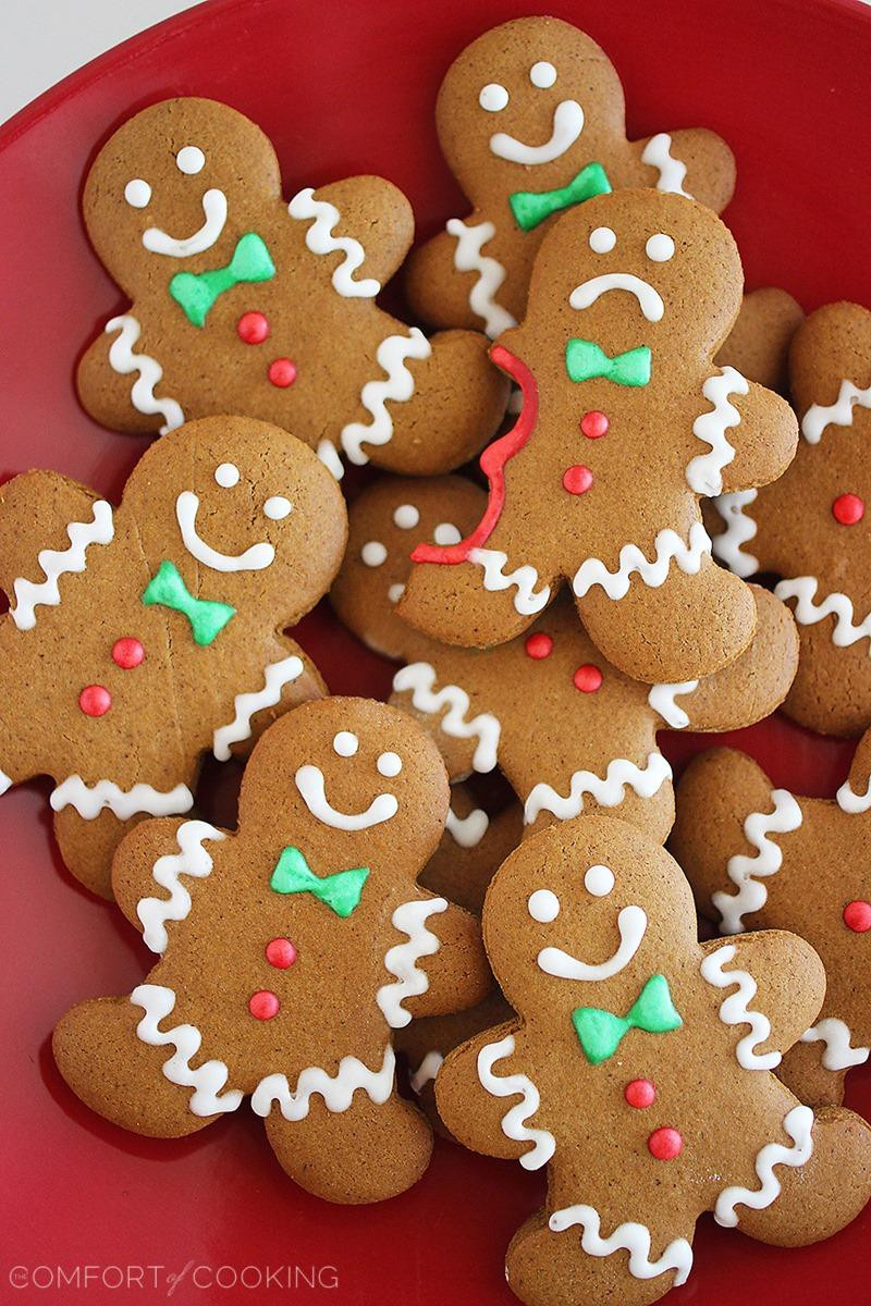 Ginger Bread Christmas Cookies  Spiced Gingerbread Man Cookies