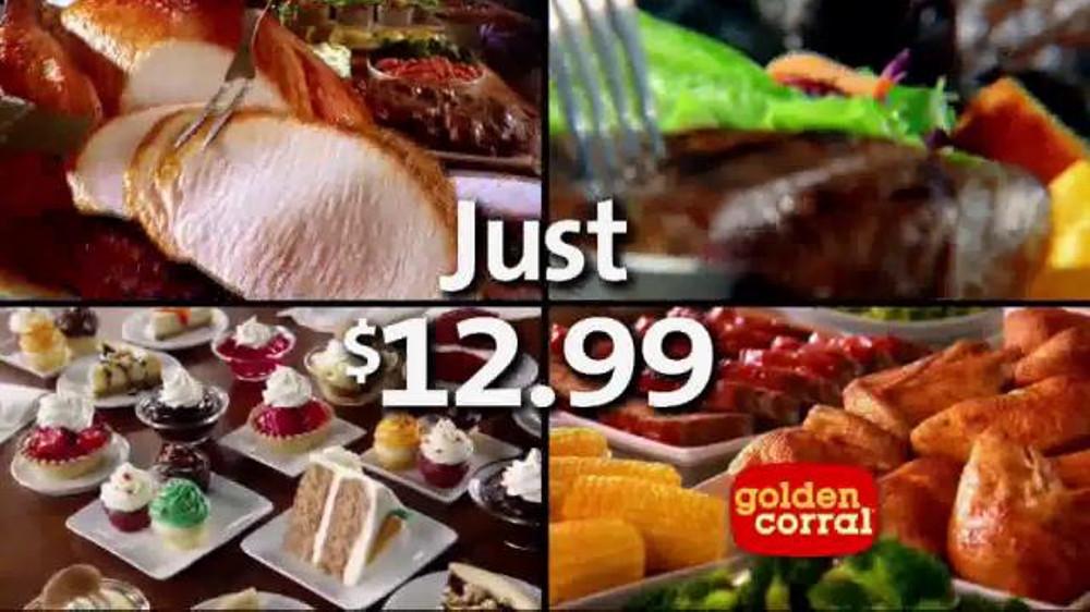 Golden Corral Thanksgiving Dinner To Go  Golden Corral Thanksgiving Day Buffet TV mercial New