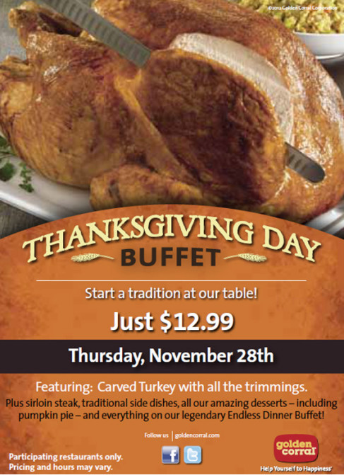 Golden Corral Thanksgiving Dinner To Go  6 Best Places to Get a Thanksgiving Meal in Fayetteville