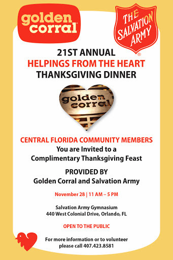 Golden Corral Thanksgiving Dinner To Go  Florida Culture for the Week of November 25 by Josh