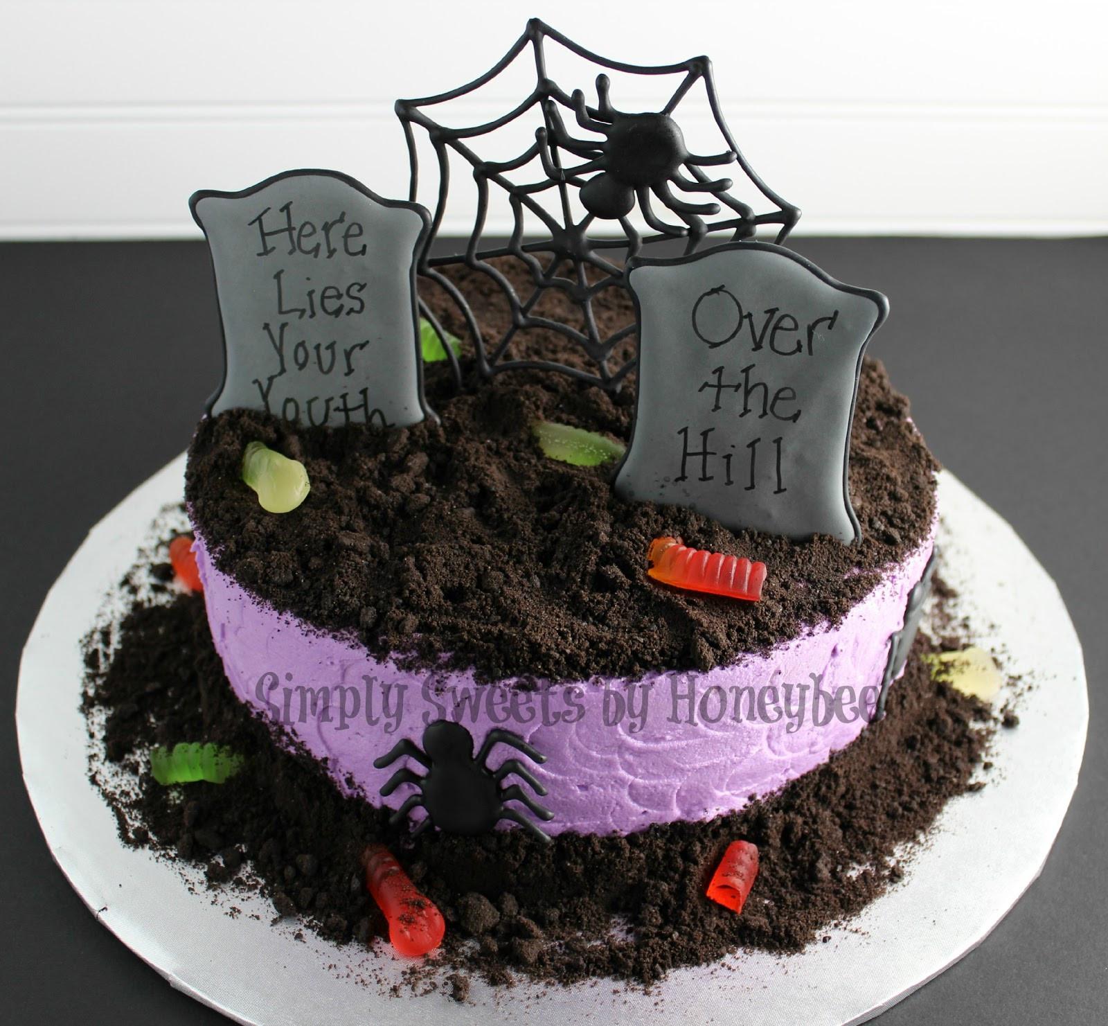 Graveyard Cakes Halloween  Graveyard Cake Video Tutorial simplysweetsbyhoneybee