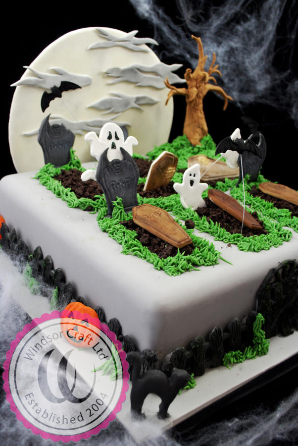 Graveyard Cakes Halloween  Halloween Graveyard Cake by Windsor cake by Windsor