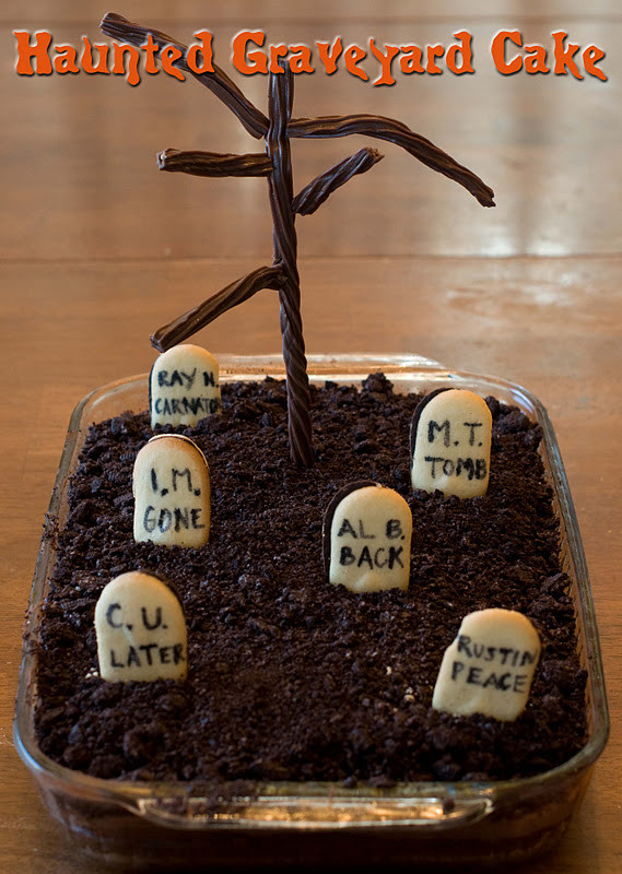 Graveyard Cakes Halloween  Haunted Graveyard Cake