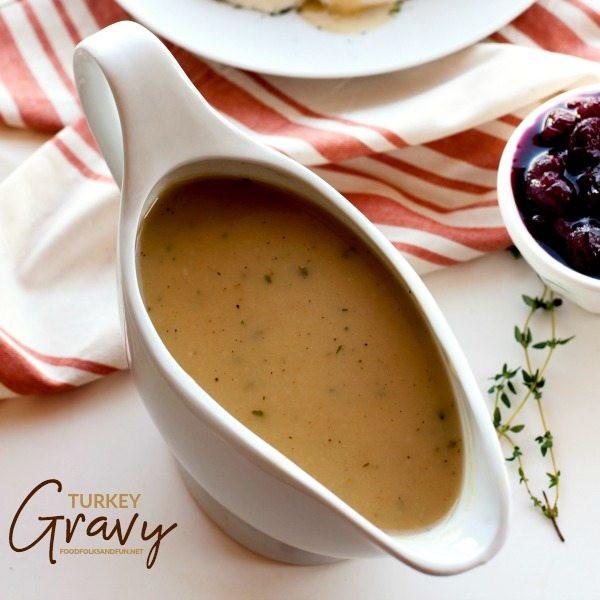 Gravy Thanksgiving Side Dishes  Turkey Gravy • Food Folks and Fun
