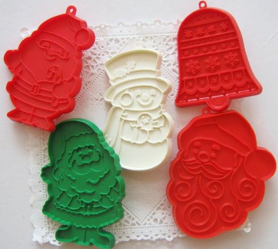Hallmark Christmas Cookies  Vintage Hallmark Christmas Cookie Cutter Ornament Lot Santa