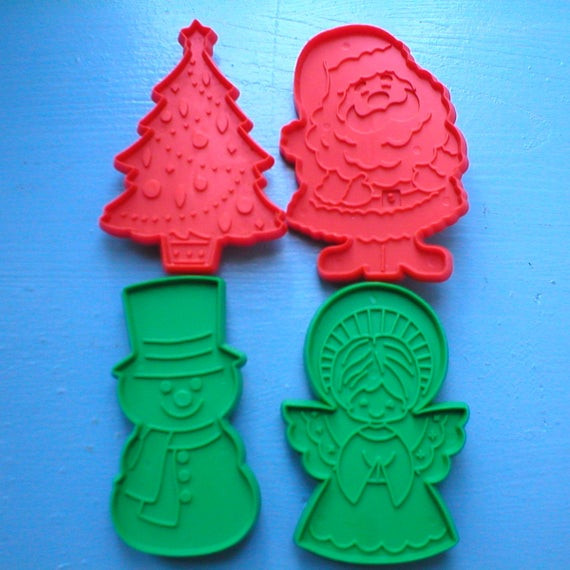 Hallmark Christmas Cookies  Christmas Cookie Cutter Set 4 Hallmark Cookie Cutters e