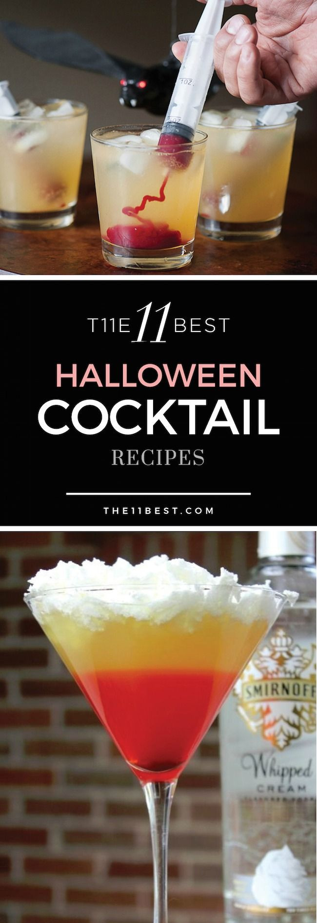 Halloween Alcoholic Drinks Recipes  Best 25 Halloween cocktails ideas on Pinterest
