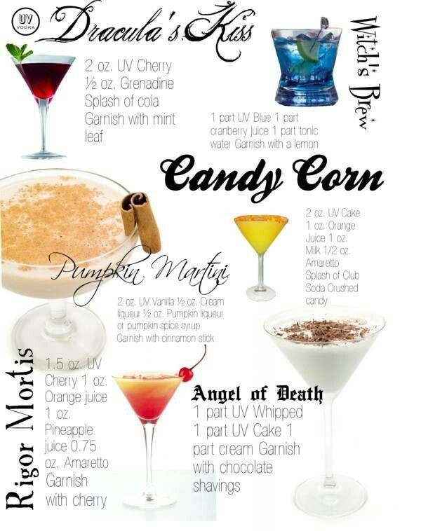 Halloween Alcoholic Drinks Recipes  Halloween Ideas 6 Spooky Cocktails