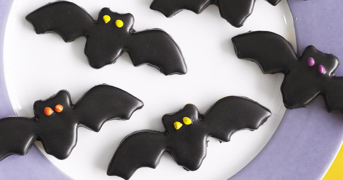 Halloween Bat Cookies  Halloween Black Bat Cookies
