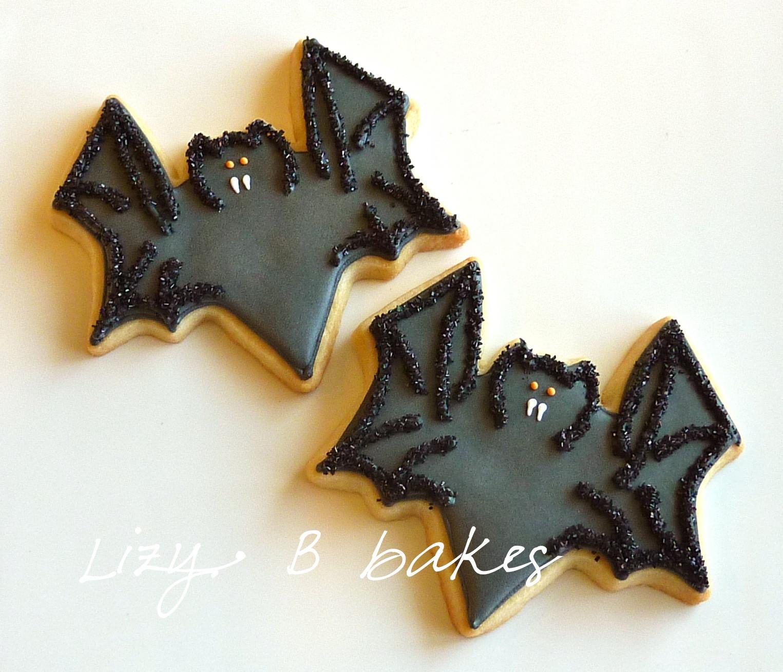 Halloween Bat Cookies  Lizy B Bat Cookies for Halloween