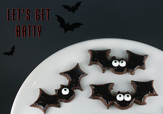Halloween Bat Cookies  Little White Whale