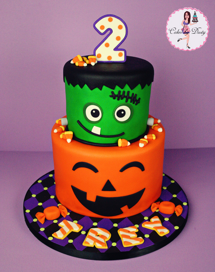 Halloween Birthday Cake Ideas  Cakes by Dusty Trey s Halloween Birthday Cake