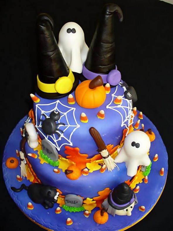Halloween Birthday Cupcakes  Valentine e Halloween Cakes