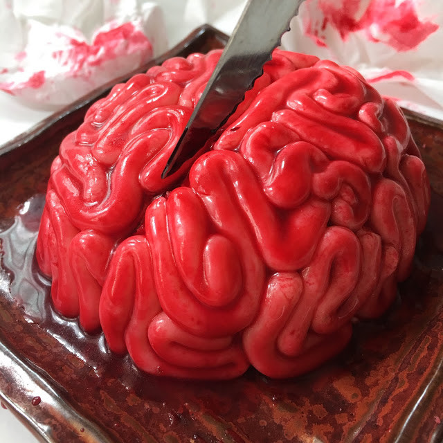 Halloween Brain Cakes  Sherbakes Step by Step Tutorial on how to make a