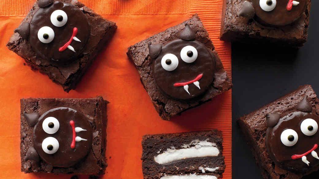 Halloween Brownies Decorating  Halloween Appetizers & Snacks