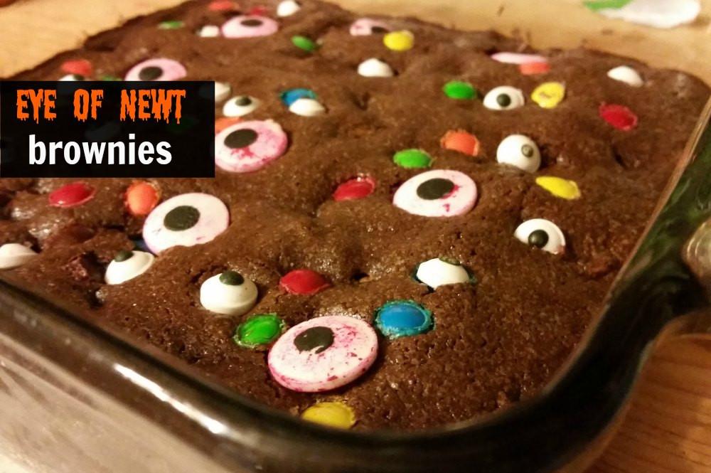 Halloween Brownies Decorating  Eye of Newt Halloween brownies recipe Eat Travel Life