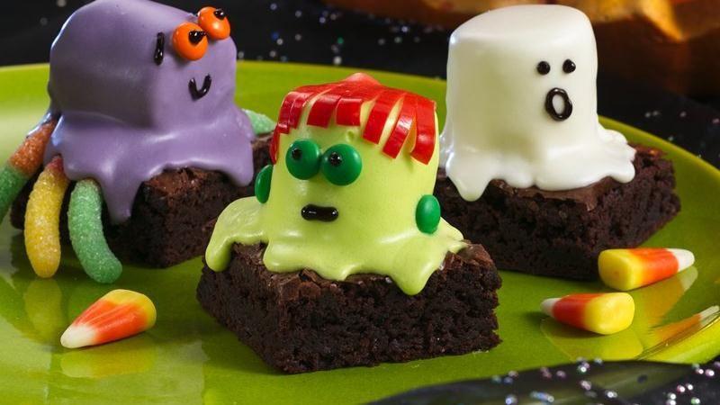 Halloween Brownies Decorating  Halloween Treats – Spooky Boo Brownie Recipe Design