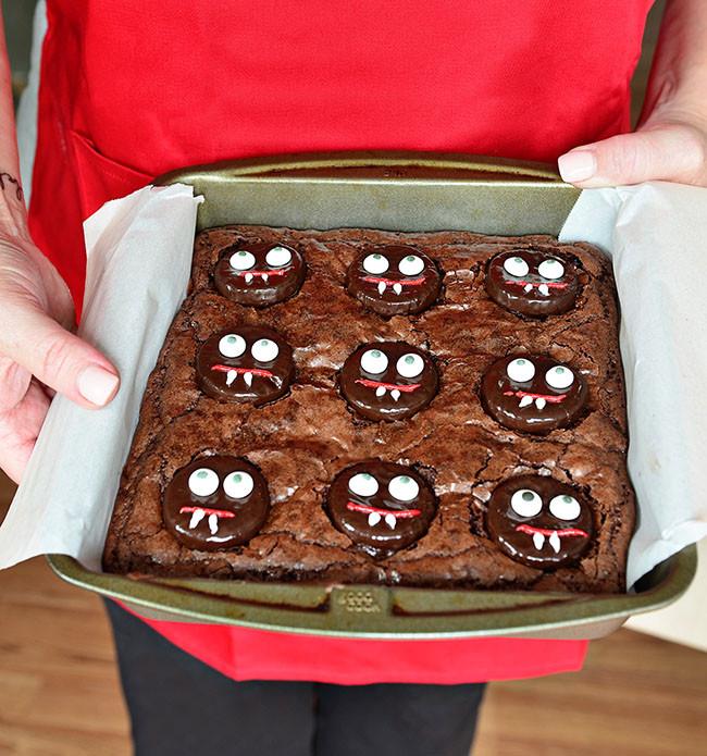 Halloween Brownies Decorating  Mint Vampire Brownies Eighteen25