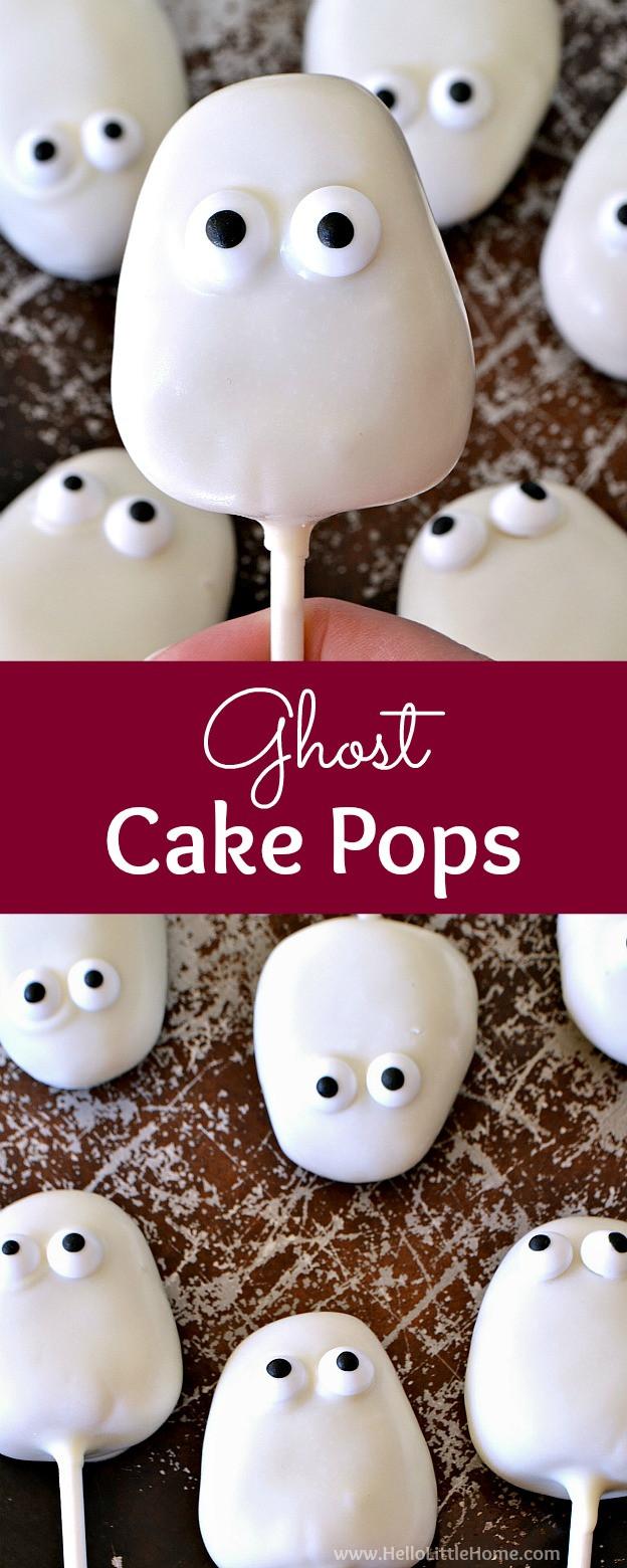 Halloween Cake Pops Recipe  Ghost Cake Pops