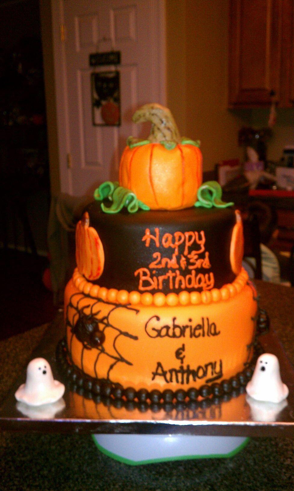Halloween Cakes For Kids  Kids Halloween birthday cake My cakes