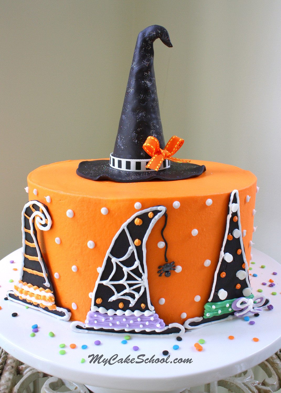 Halloween Cakes Images  Witch Hats A Halloween Cake Decorating Tutorial