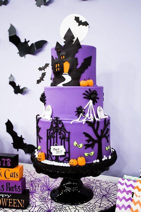 Halloween Cakes Pinterest  2126 best Halloween Fall Cakes images on Pinterest