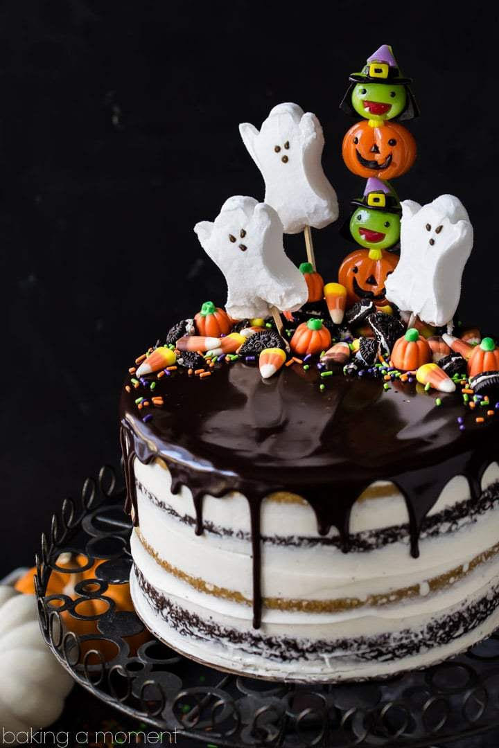 Halloween Candy Cakes  13 Ghoulishly Festive Halloween Birthday Cakes Southern