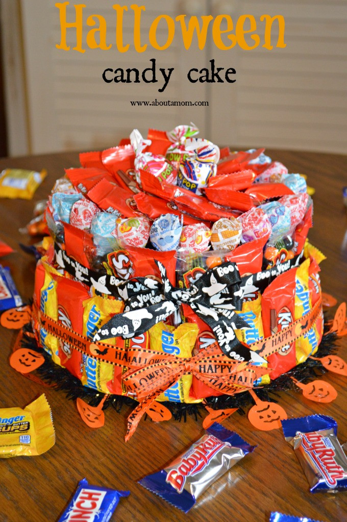 Halloween Candy Cakes  How to Make a Halloween Candy Cake About A Mom
