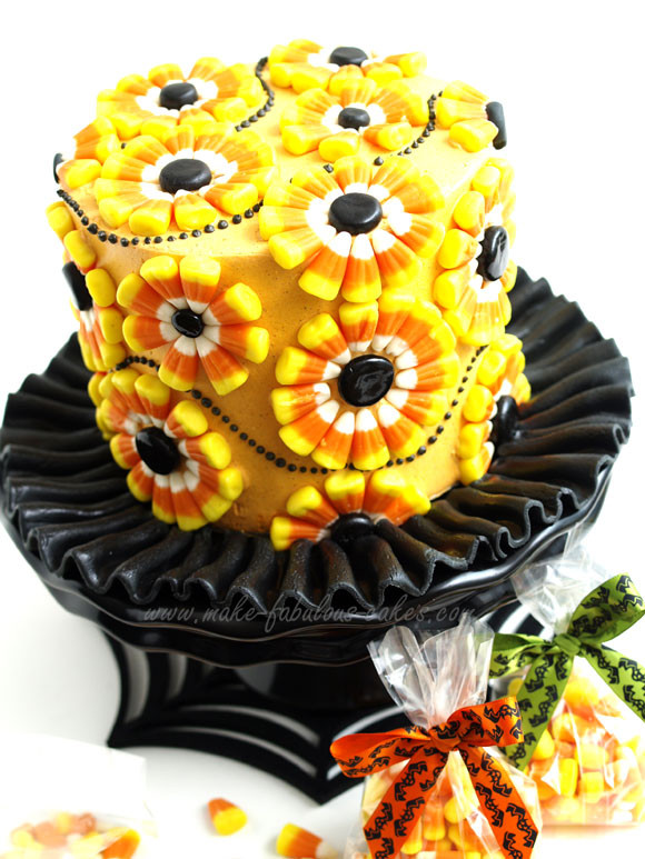 Halloween Candy Cakes  Halloween Cake Decorating a Candy Corn Cake