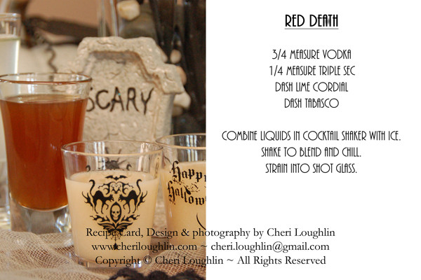 Halloween Coffee Drinks  Halloween Cocktail Recipe Cards Recipe Cards