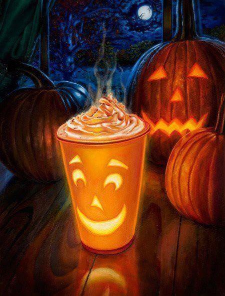 Halloween Coffee Drinks  20 best Coffee & Halloween images on Pinterest