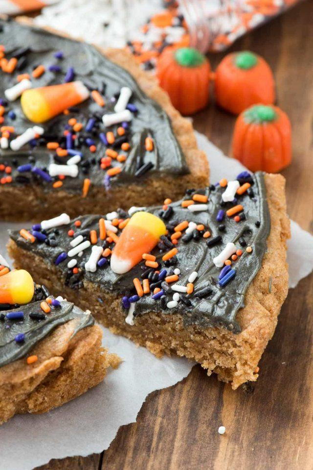 Halloween Cookie Cakes  Halloween Pumpkin Cookie Cake Crazy for Crust