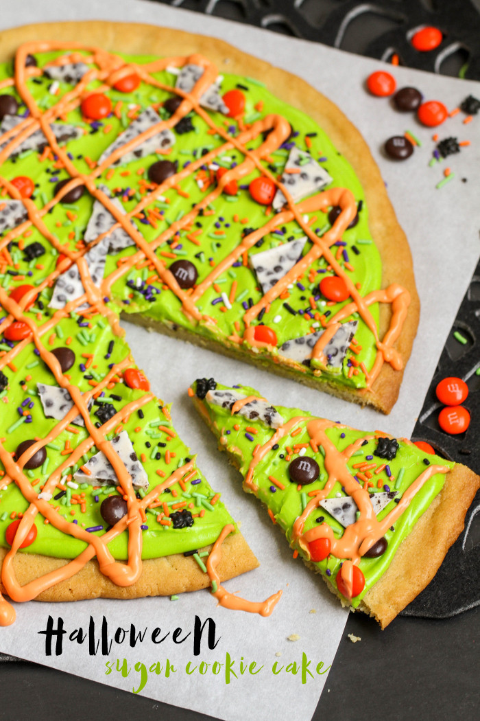 Halloween Cookie Cakes  Sugar Cookie Cake