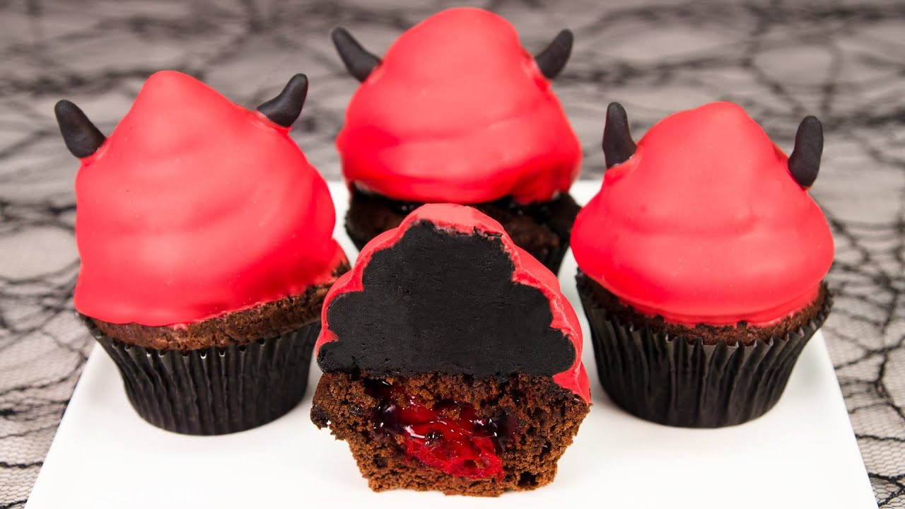 Halloween Cookies And Cupcakes  Devil s Food Cake Halloween Cupcakes from Cookies Cupcakes
