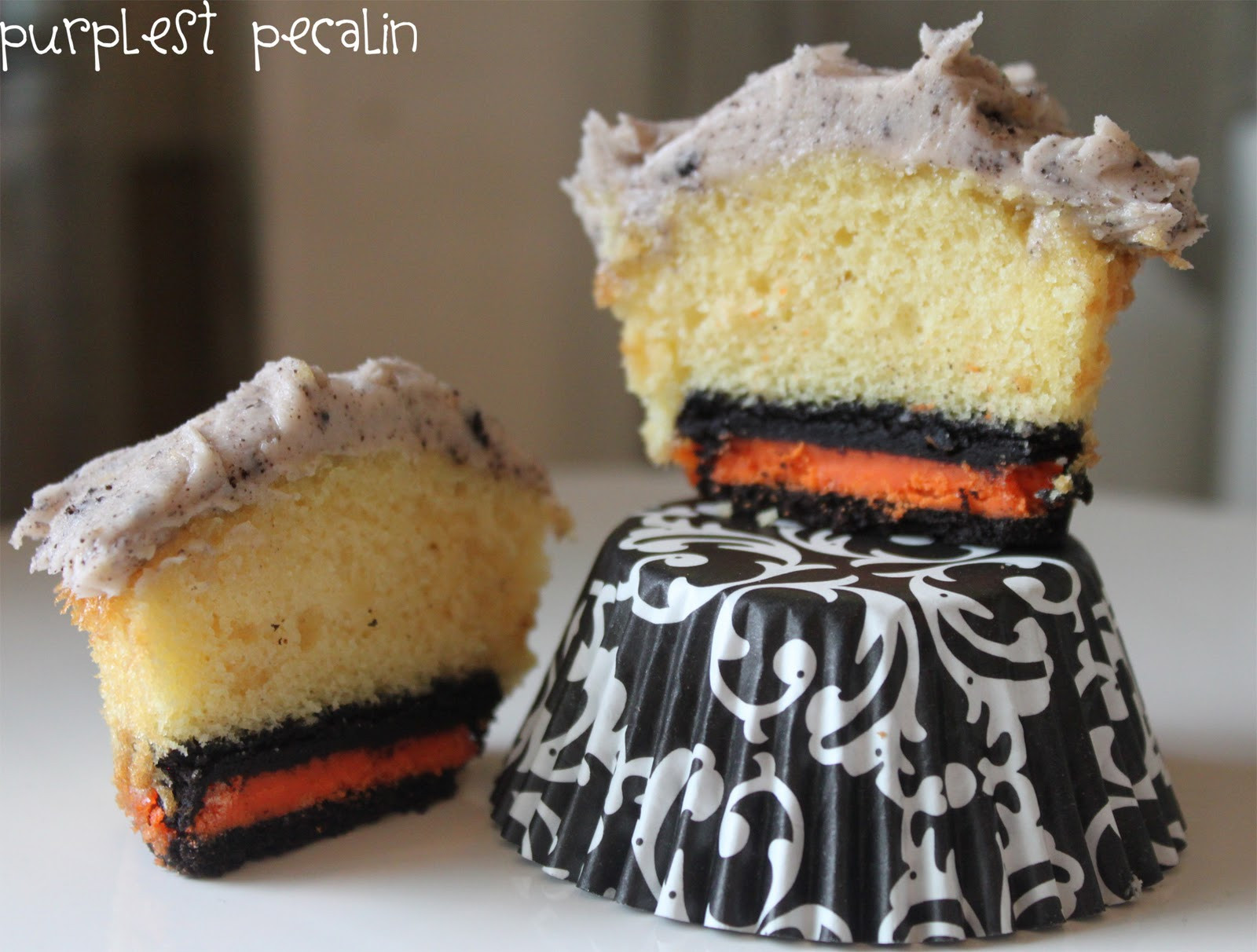 Halloween Cookies And Cupcakes  Purplest Pecalin Cookies & Cream Cupcakes Halloweenified