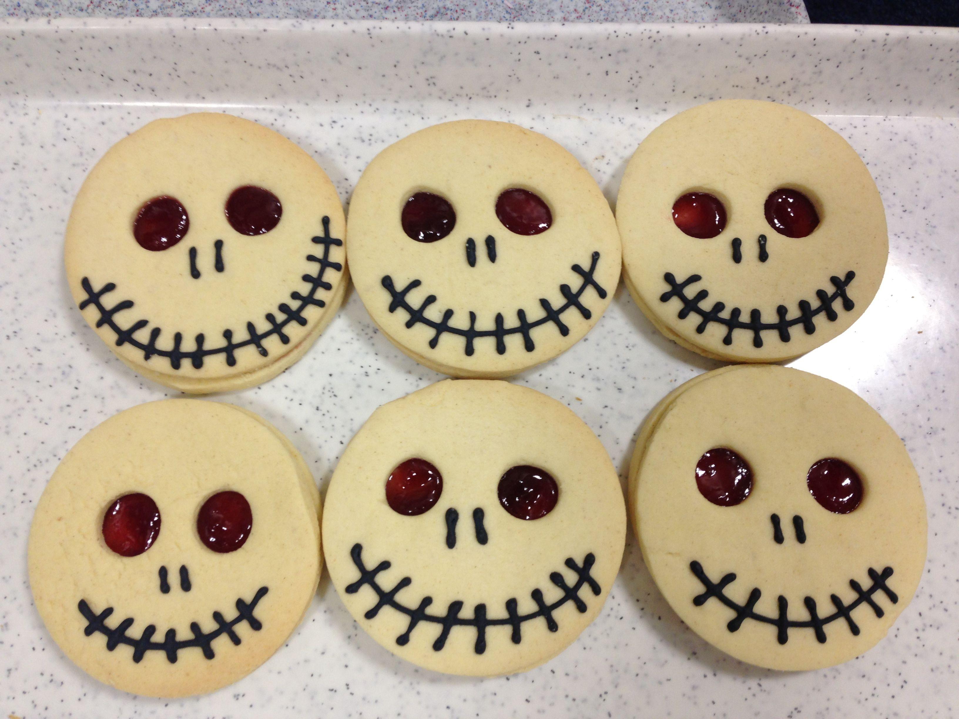 Halloween Cookies For Sale  Skull jammie dodgers for school Halloween bake sale