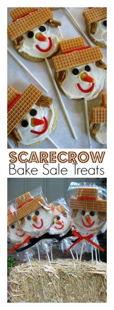 Halloween Cookies For Sale  Scarecrow Bake Sale Treats Margaret s Sugar Cookies